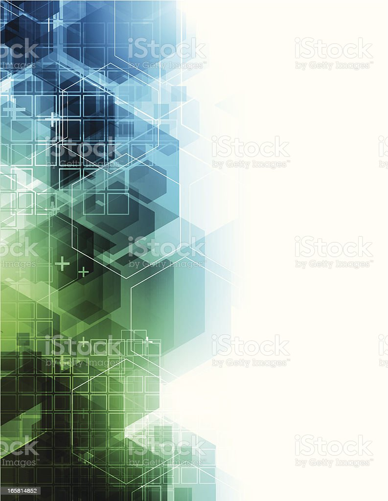 Abstract background with blue and green design royalty-free stock vector art