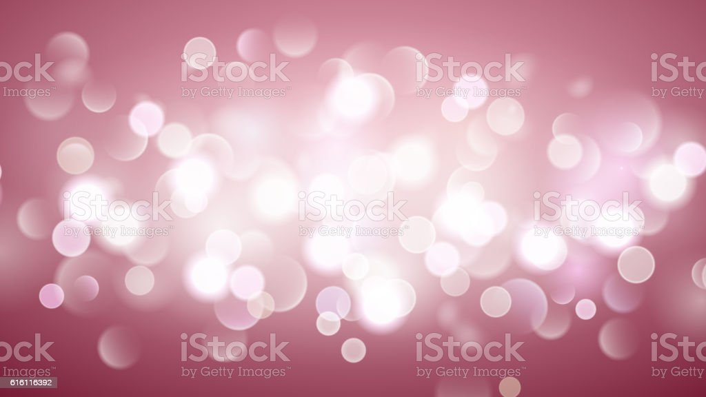 Abstract background with bokeh effect in pink vector art illustration