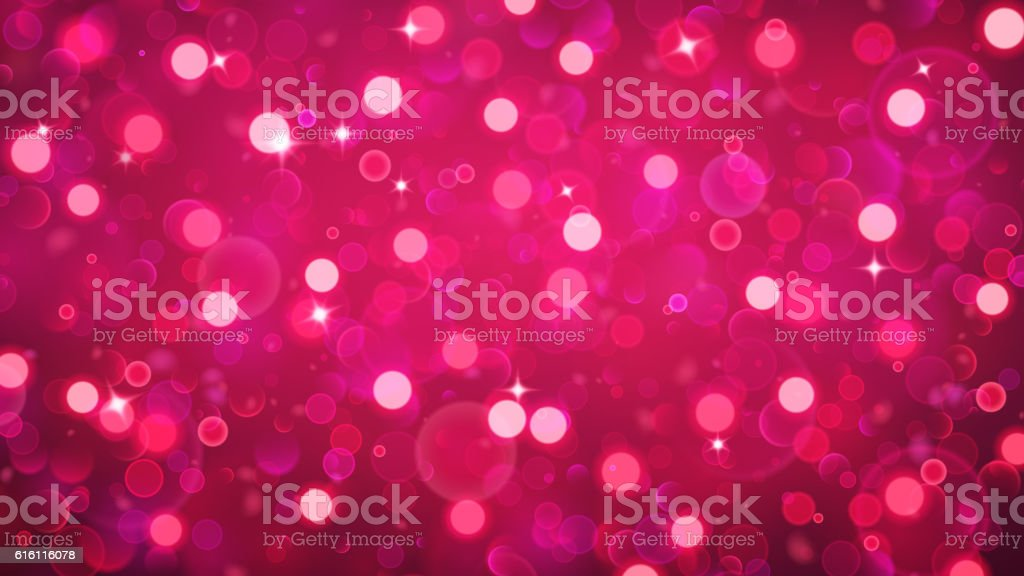 Abstract background with bokeh effect in red vector art illustration