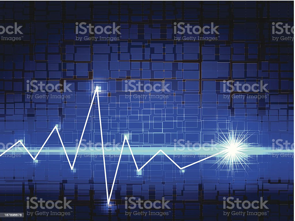 abstract background with bright blue lights royalty-free stock vector art