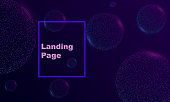 abstract background with bubbles. cosmic concept landing page
