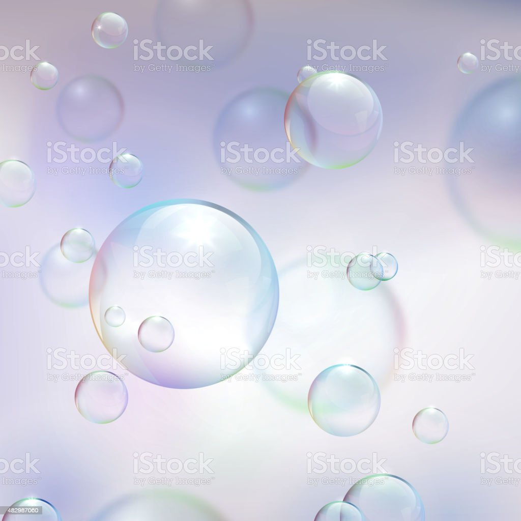 Abstract background with bubbles. vector art illustration