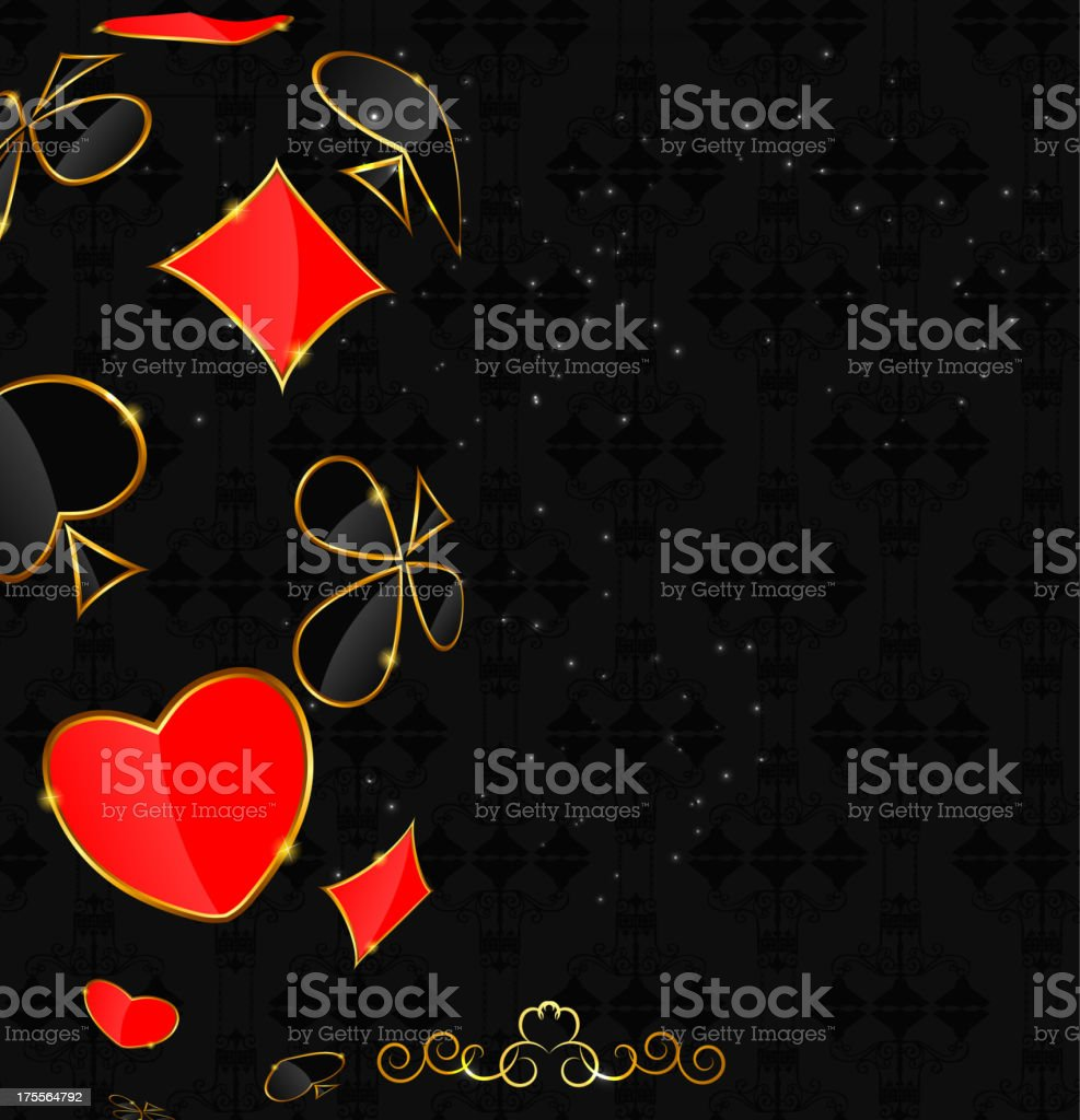 Abstract background with card suits for design. Vector illustration. royalty-free stock vector art