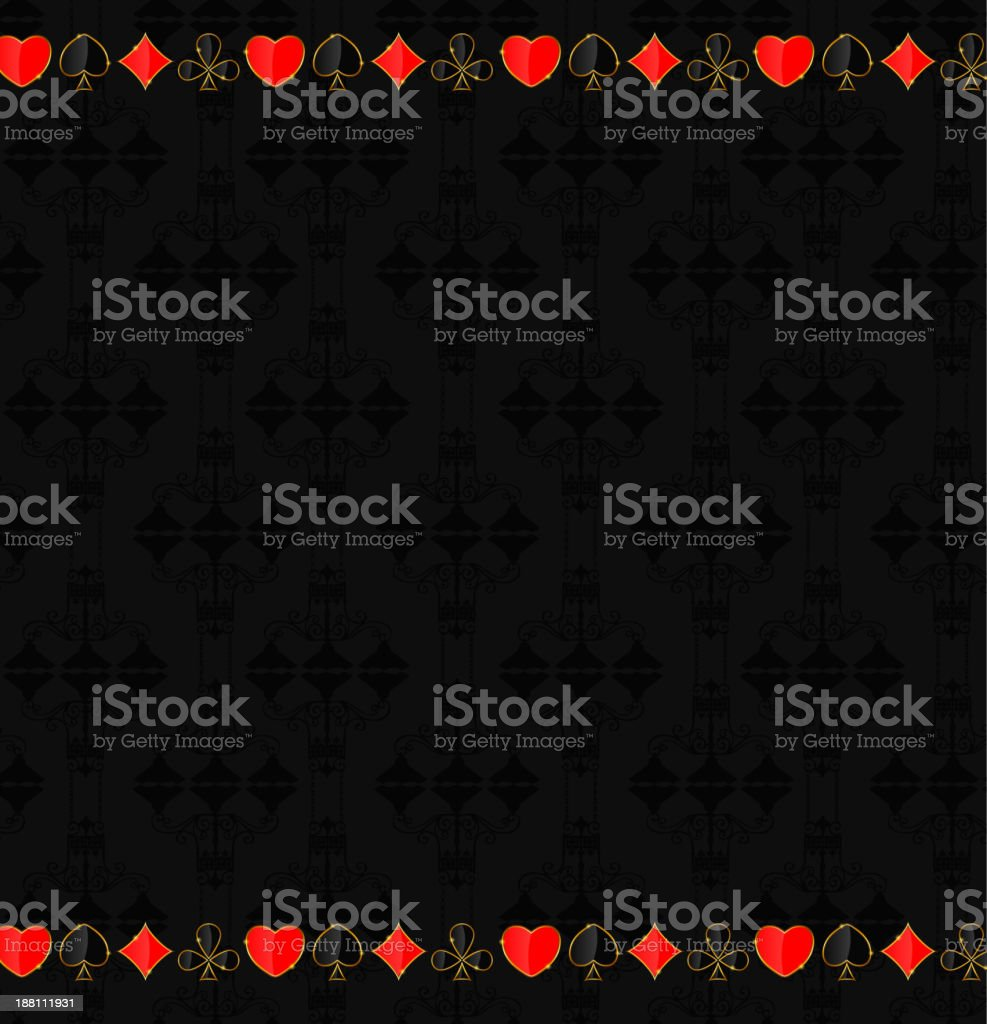 Abstract background with card suits for design. Vector illustration. royalty-free abstract background with card suits for design vector illustration stock vector art & more images of abstract