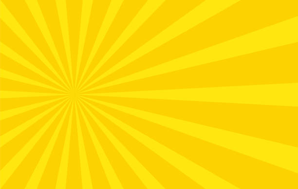Abstract background with cartoon rays of yellow color. Template for your projects. The cartoon sun. Flat style Abstract background with cartoon rays of yellow color. Template for your projects. The cartoon sun. Flat style backgrounds clipart stock illustrations