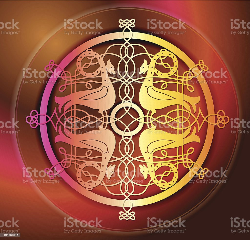abstract  background with Celtic ornaments royalty-free stock vector art