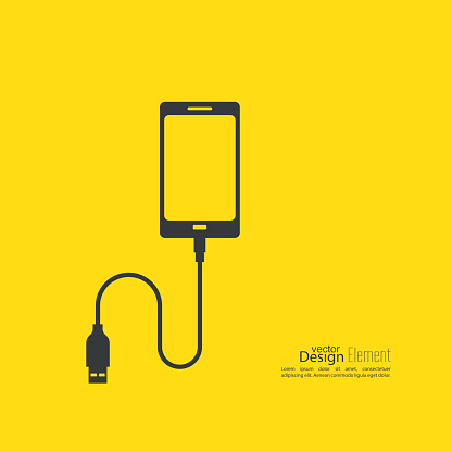 Abstract background with charge mobile phones.