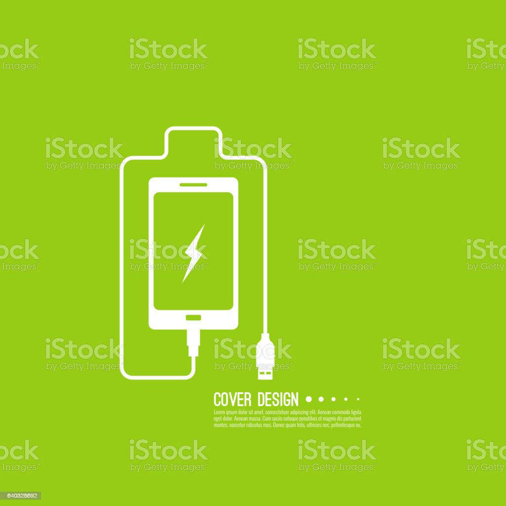 Abstract background with charge vector art illustration