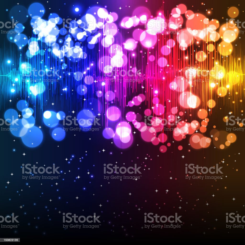 Abstract background with circles and stripes of color vector art illustration