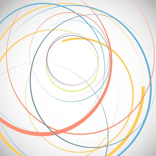 illustrazioni stock, clip art, cartoni animati e icone di tendenza di abstract background with circles - young digital
