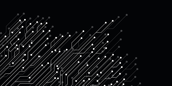 Abstract background with circuit board, technology design