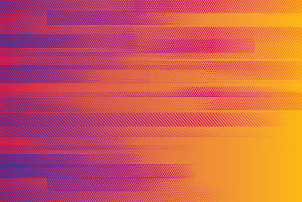 Bекторная иллюстрация Abstract background with colorful horizontal bars