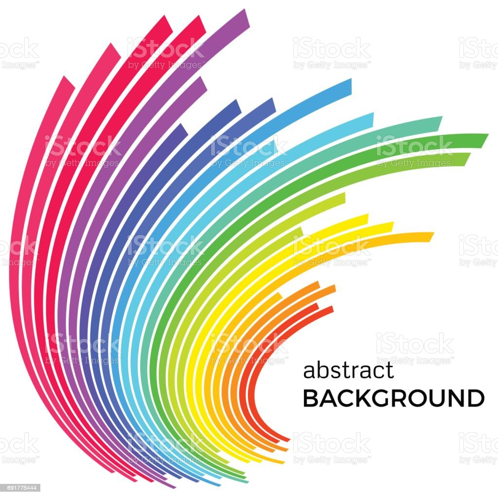 Abstract Background With Colorful Rainbow Lines Stock Illustration Download Image Now