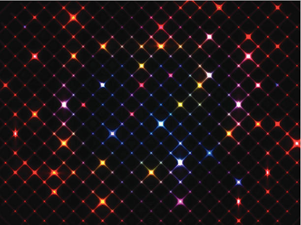 Abstract background with colorful set of lights Abstract lights background. disco lights stock illustrations