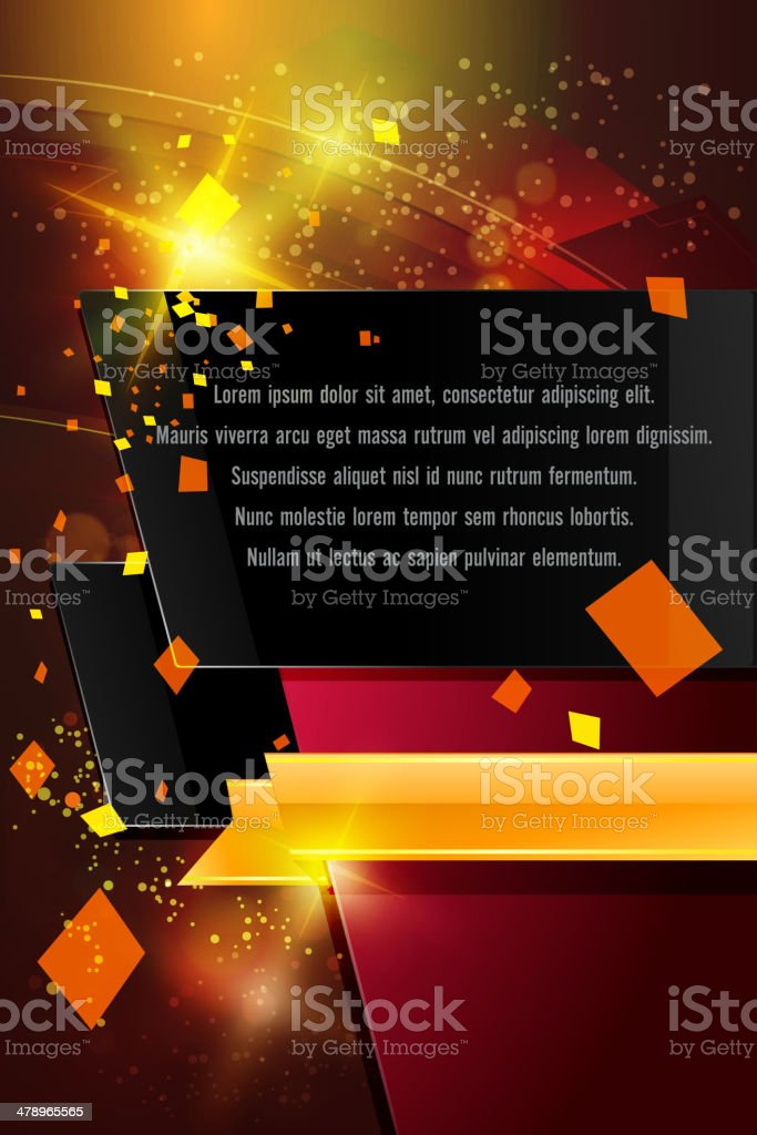 Abstract Background with Copy space royalty-free stock vector art