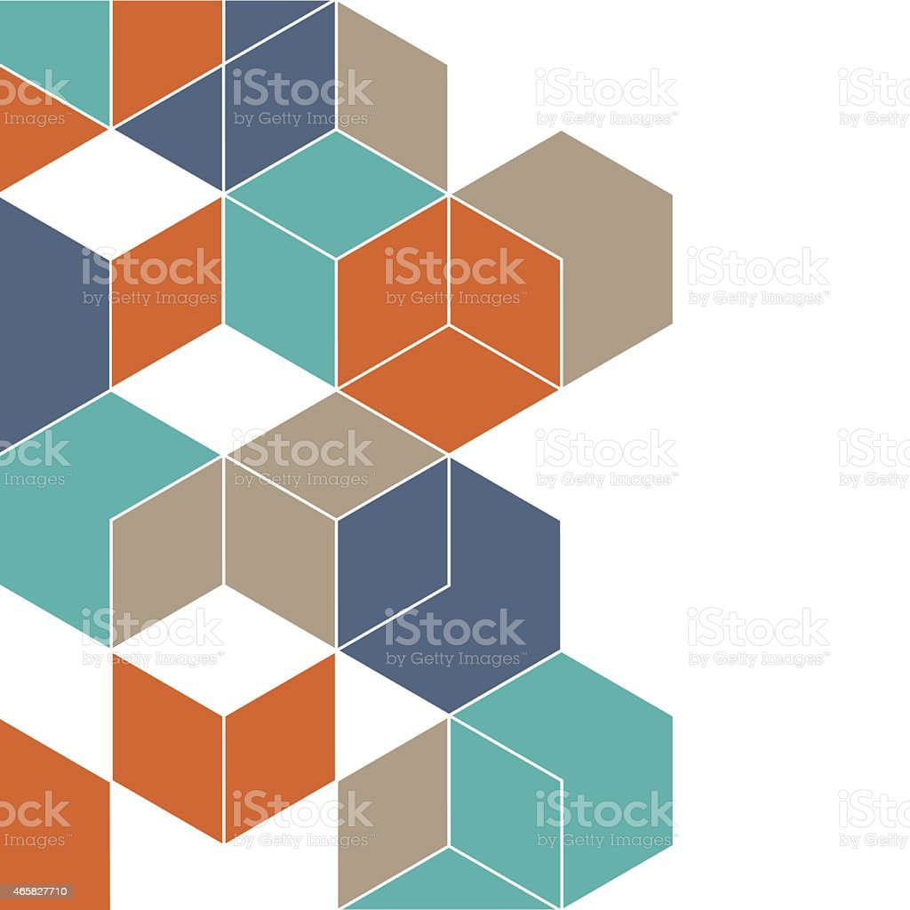 Abstract background with cubes for design vector art illustration
