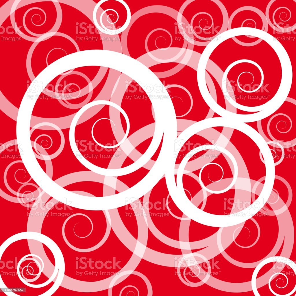 Abstract Background With Curly In Rotation Vector