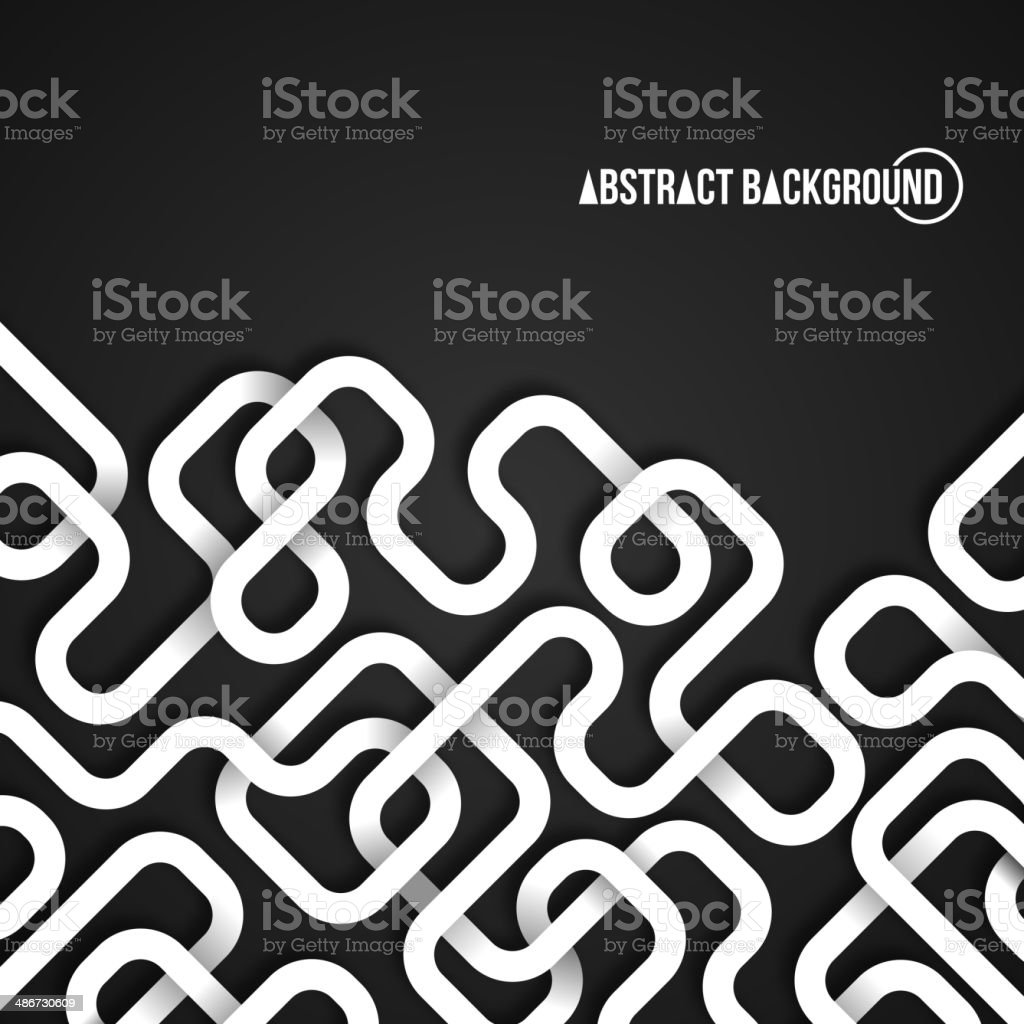 Abstract background with curved lines. vector art illustration