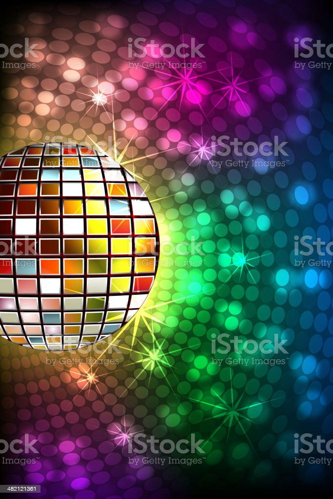 Abstract Background with Disco ball royalty-free stock vector art