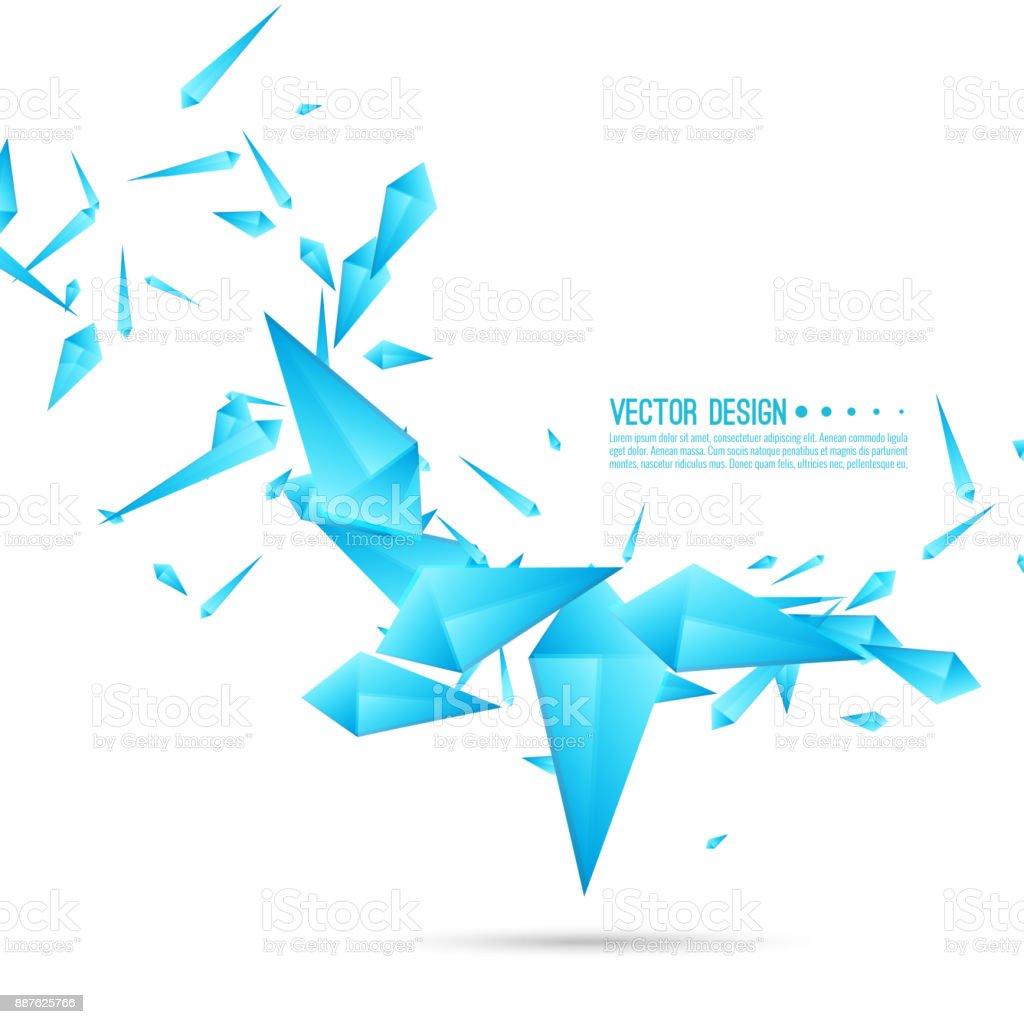 Zusammenfassung Hintergrund mit dynamischen Fragmente. – Vektorgrafik