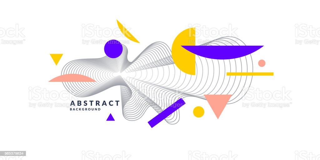 Abstract background with dynamic linear waves royalty-free abstract background with dynamic linear waves stock vector art & more images of abstract