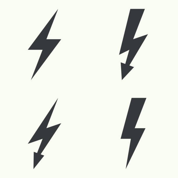 Abstract background with electric lightning vector art illustration