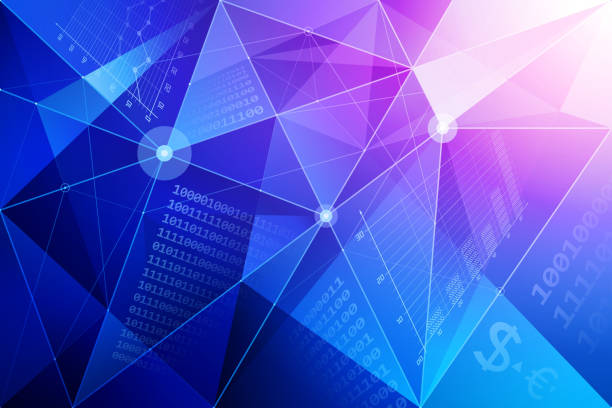 Abstract background with financial symbols Abstract financial background. financial report stock illustrations