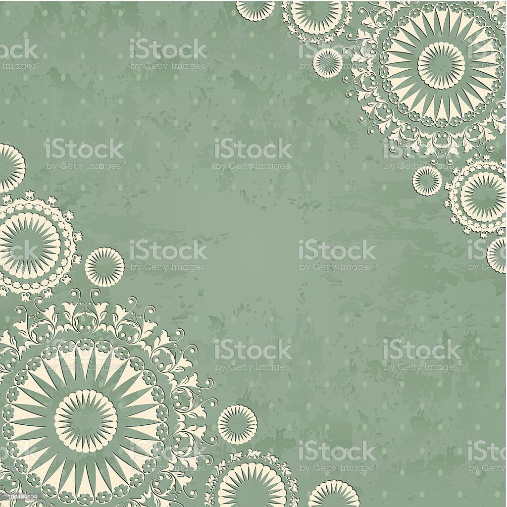 Abstract background with floral lace royalty-free abstract background with floral lace stock vector art & more images of abstract
