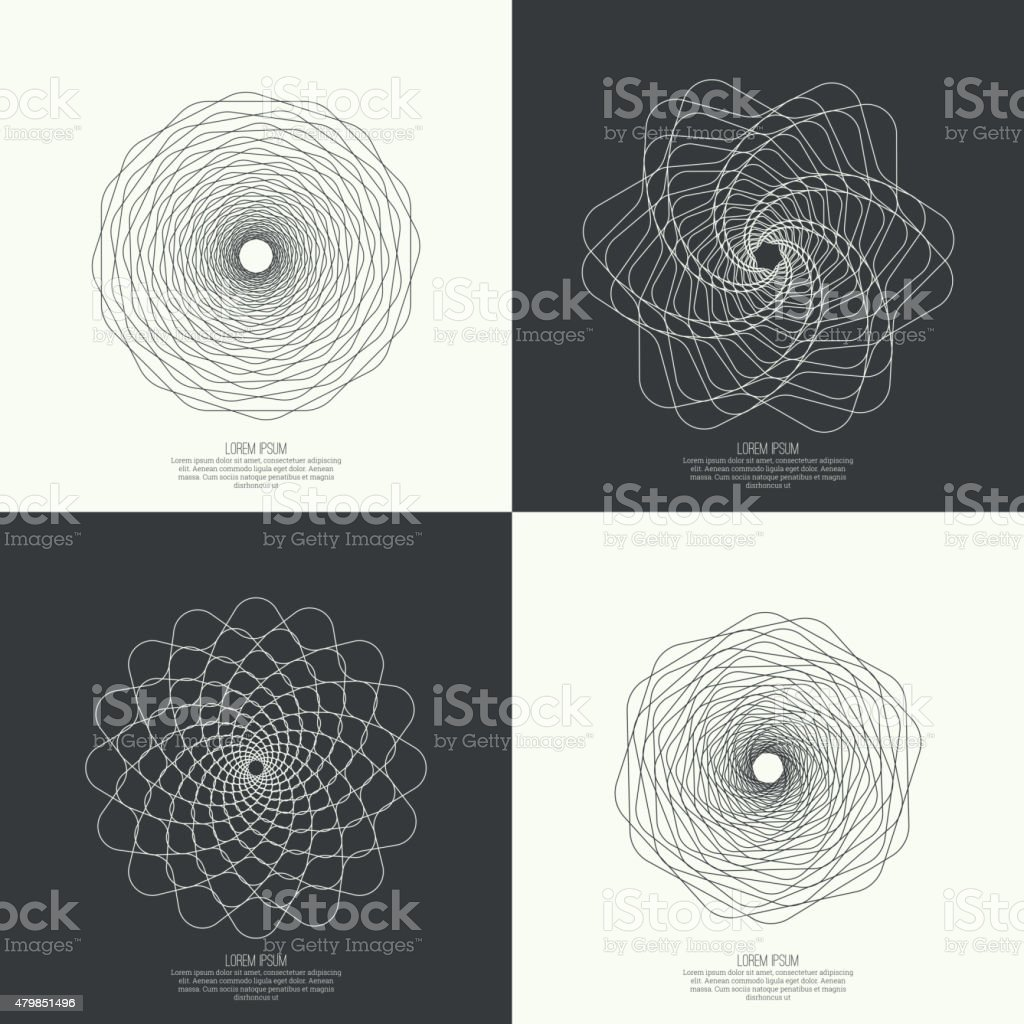 Abstract background with fractal vector art illustration