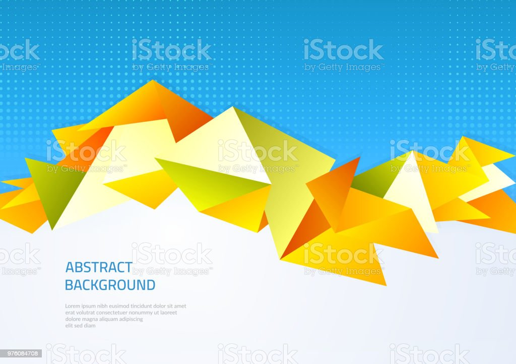 Abstract Background With Geometric Shapes Template On The Theme Of ...