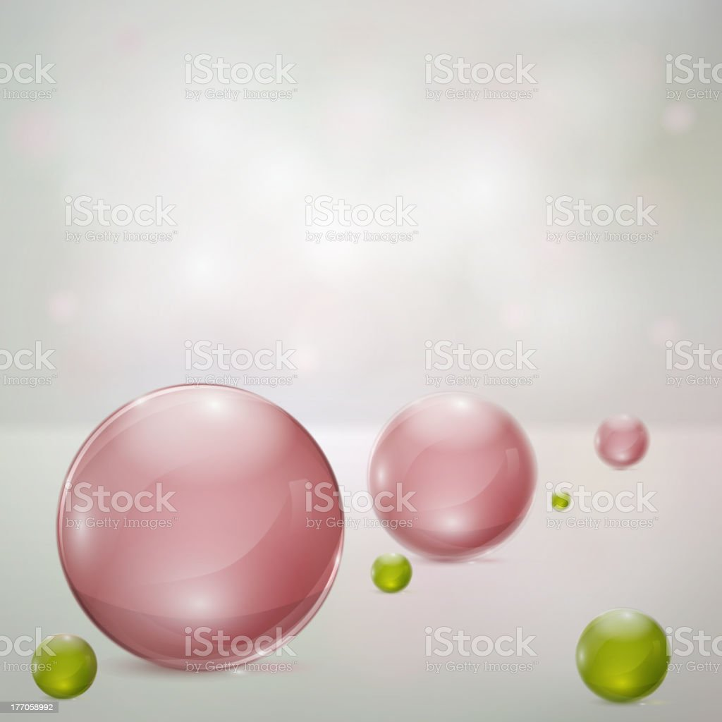Abstract background with glass spheres royalty-free abstract background with glass spheres stock vector art & more images of abstract