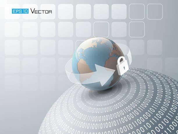 Zusammenfassung Hintergrund mit Globe 3 – Vektorgrafik