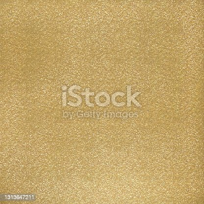 istock Abstract Background with Golden Glittering Brush Stroke. Gold Foil Shiny Grunge Texture. 1313647211