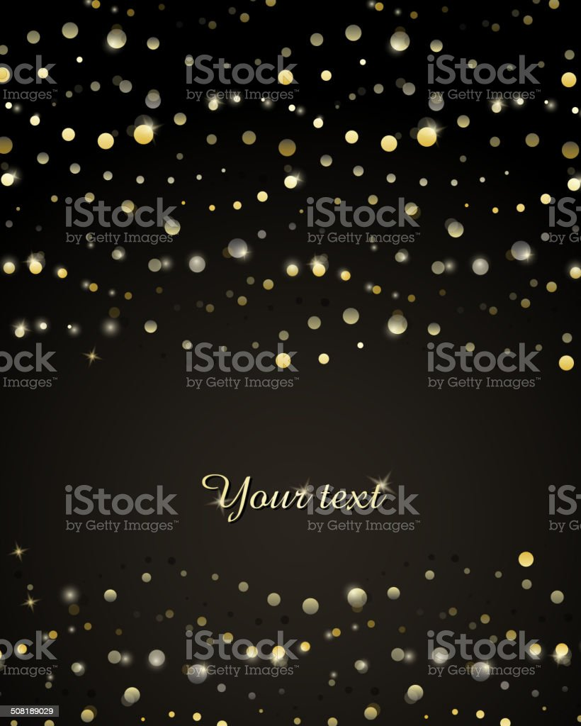 Abstract background with golden stripes of circles vector art illustration