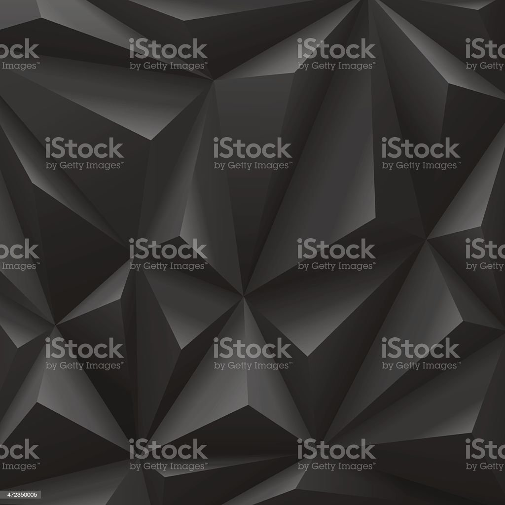 Abstract background vector illustration of black carbon pyramids of...