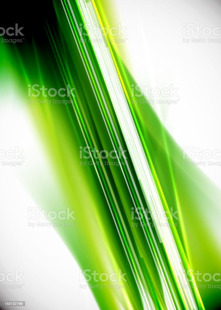 Abstract background with green colors in motion vector art illustration