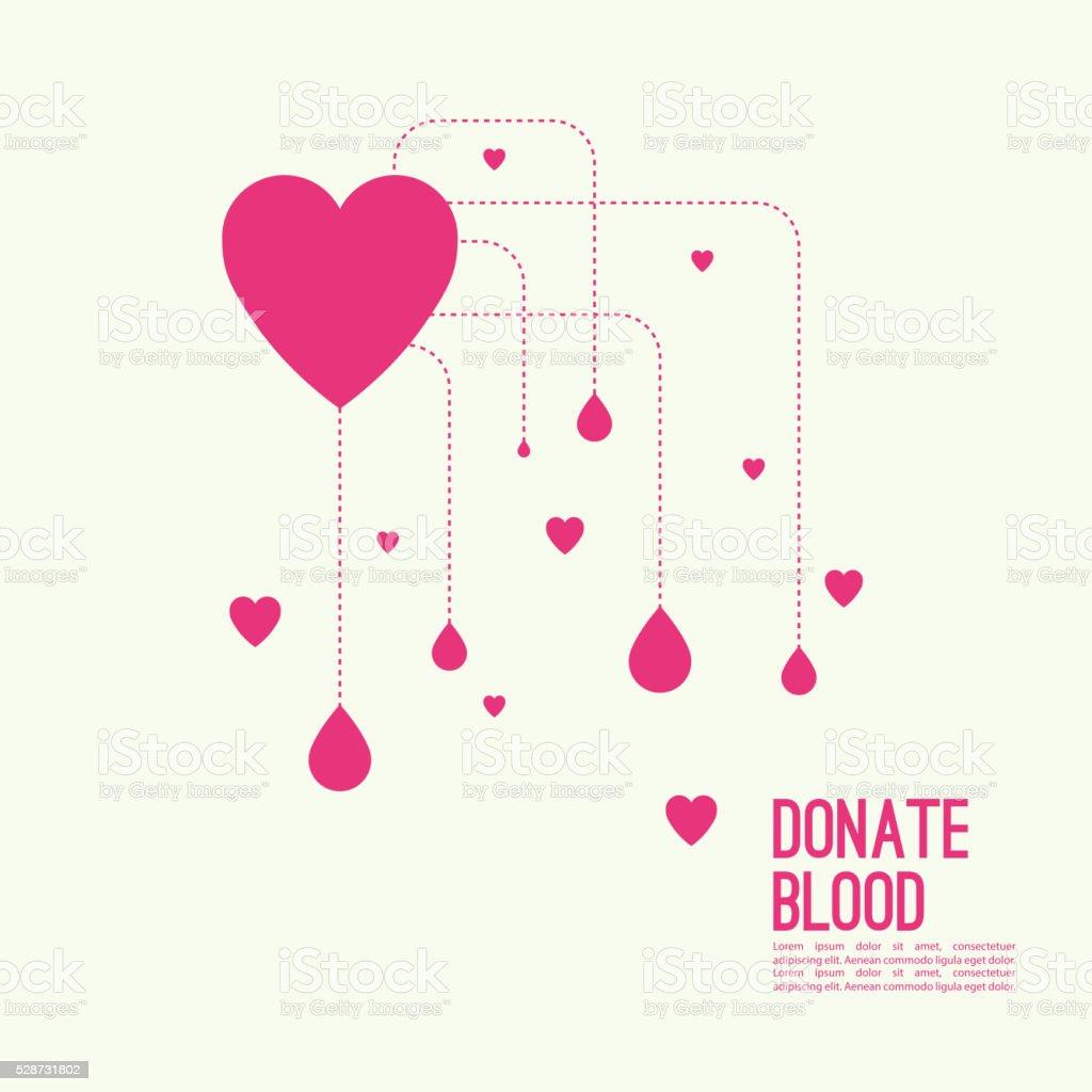 Fundo abstrato com coração - ilustração de arte em vetor