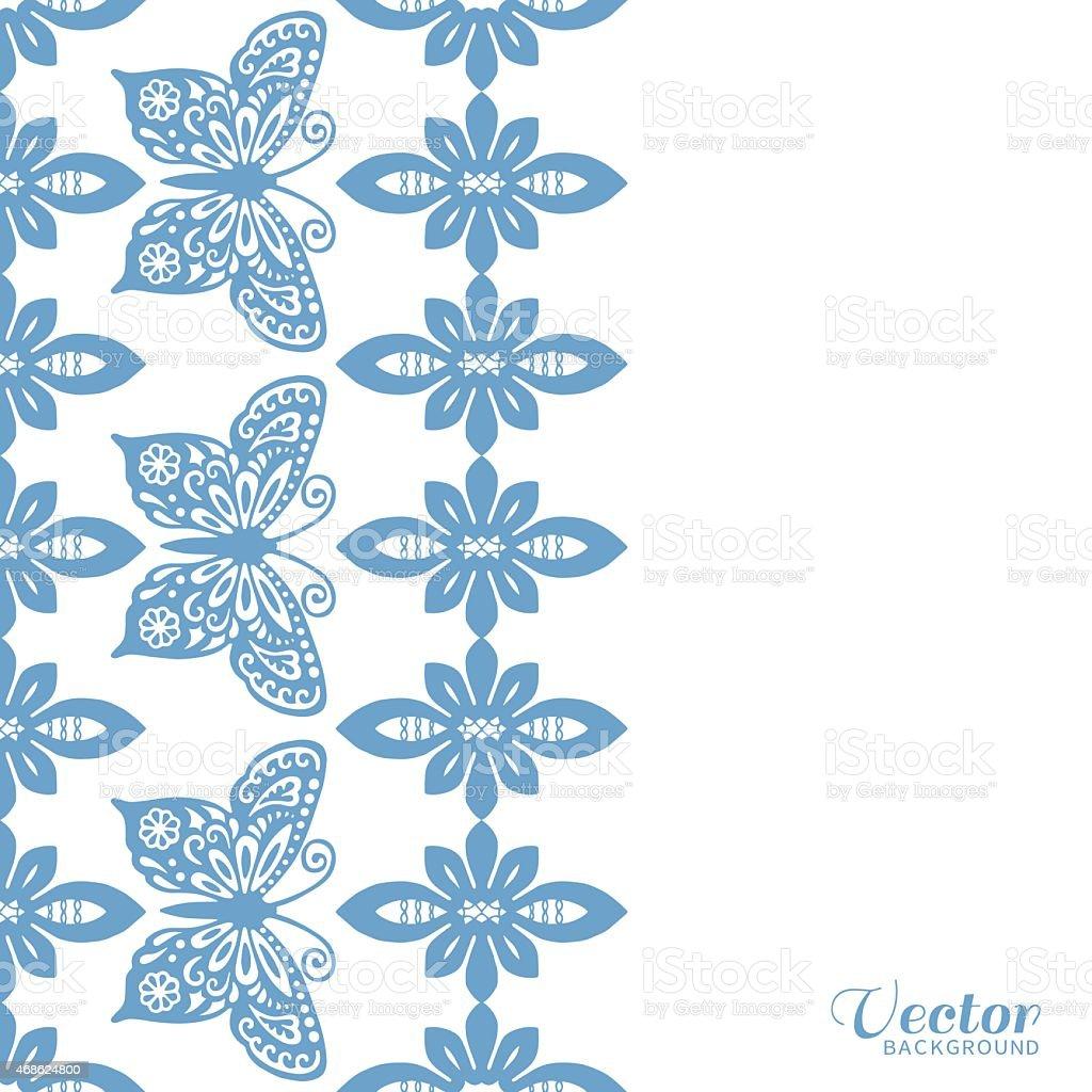 Fondo Abstracto Con Mariposa De Encaje Patrón De Diseño De Tarjeta ...