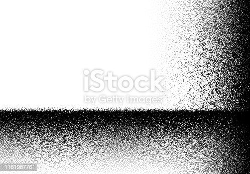 Abstract background with layered noisy gradient of scattered dots