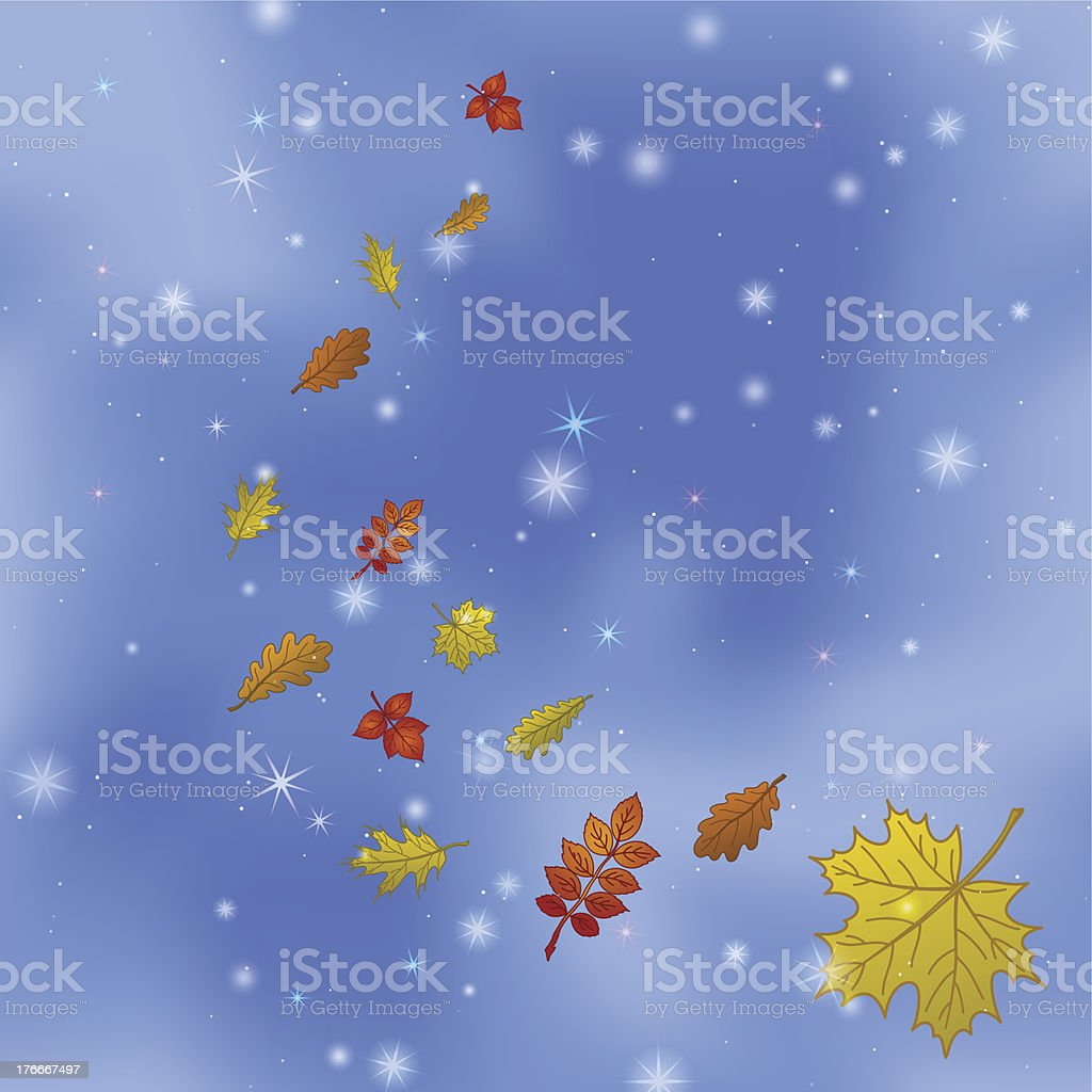 Abstract background with leaves on sky royalty-free abstract background with leaves on sky stock vector art & more images of autumn