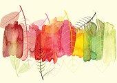 抽象的な背景、葉を季節の変化、ベクター