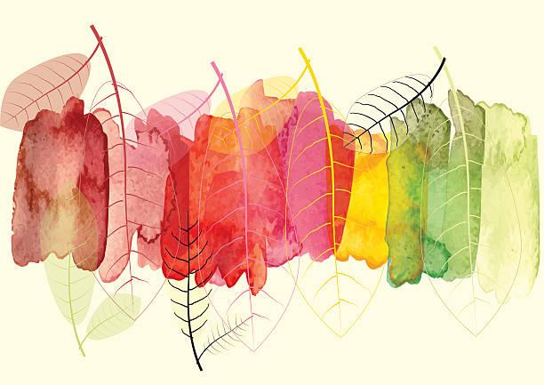 抽象的な背景、葉を季節の変化、ベクター - 秋のファッション点のイラスト素材/クリップアート素材/マンガ素材/アイコン素材