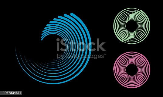 istock abstract background with lines. halftone design in circles. 1267334674