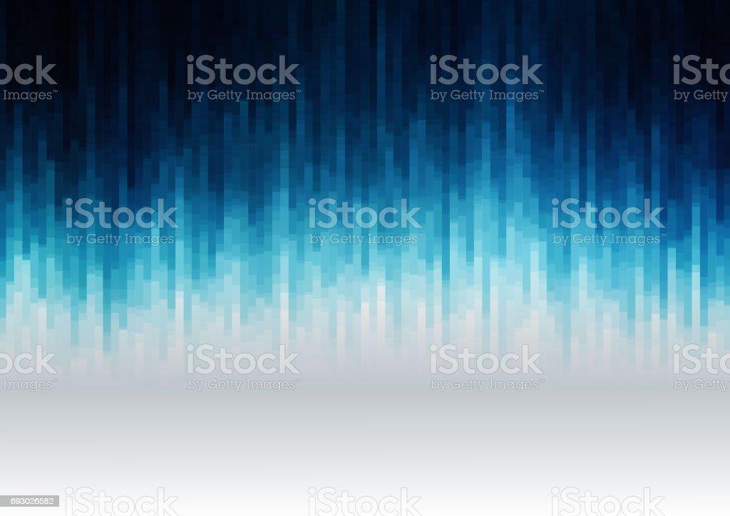 Abstracte achtergrond met vele overlappende geometrie. Blauwe tinten. Horizontale formaat A4.vectorkunst illustratie