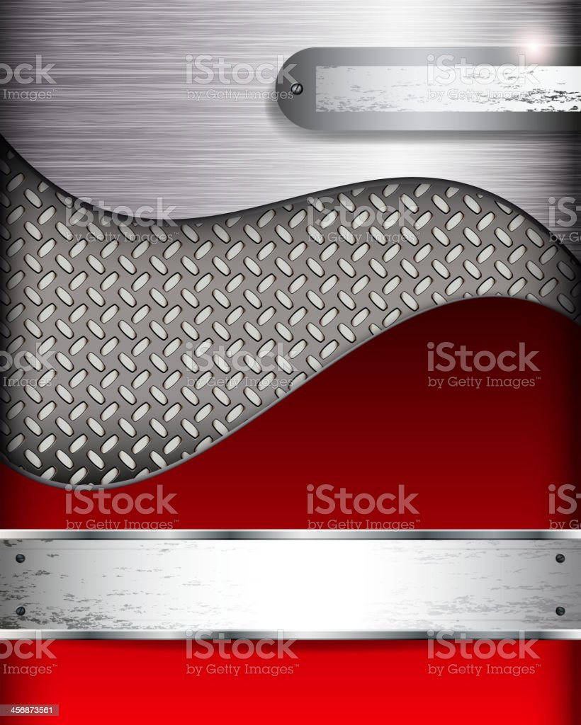 Abstract background with metall banners, vector. vector art illustration