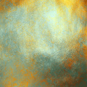 Abstract Background with Multi Colored Watercolor Brush Stroke on Gold Foil Texture. Soft Pastel Grunge Texture. Multicolored Brush Stroke Clip Art. Metallic Blot Isolated. Elegant Texture Design Element for Greeting Cards and Labels, Abstract Background.
