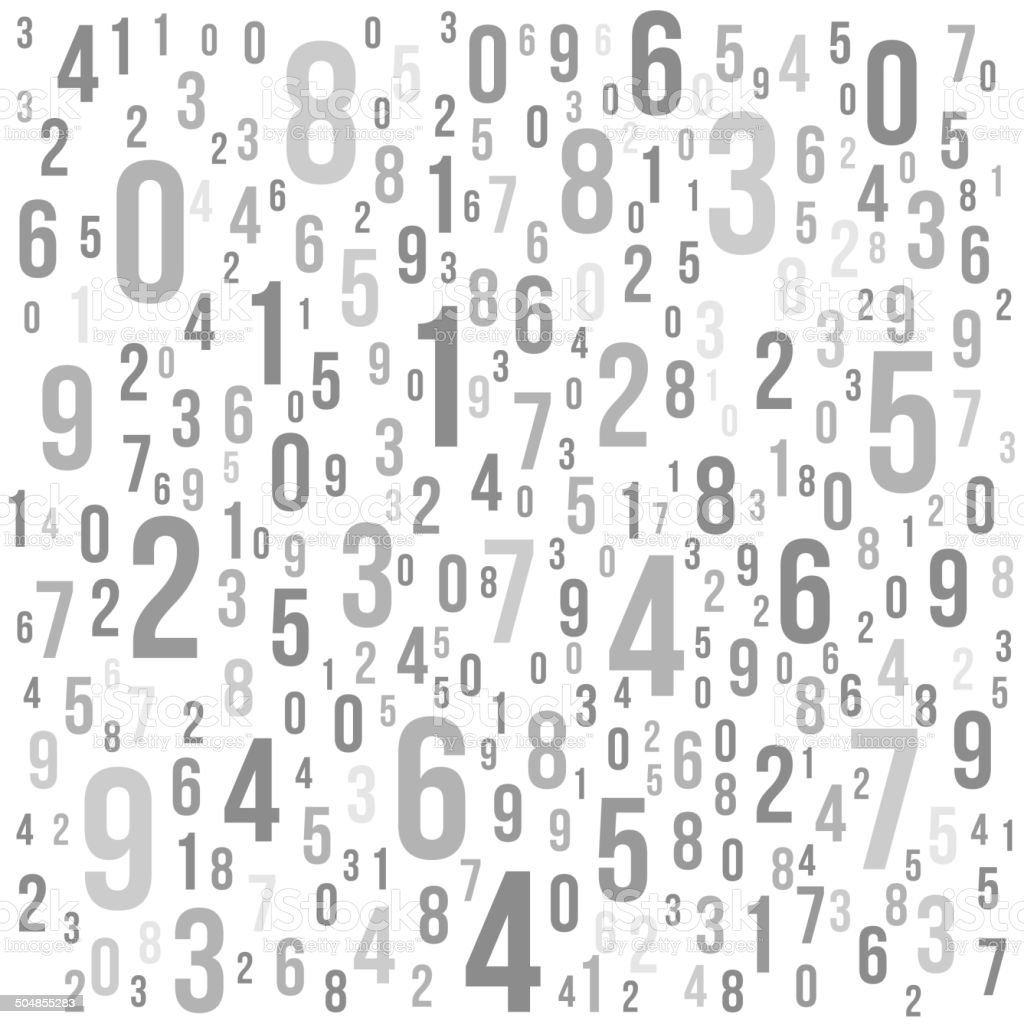 Abstract Background with Numbers. Vector vector art illustration