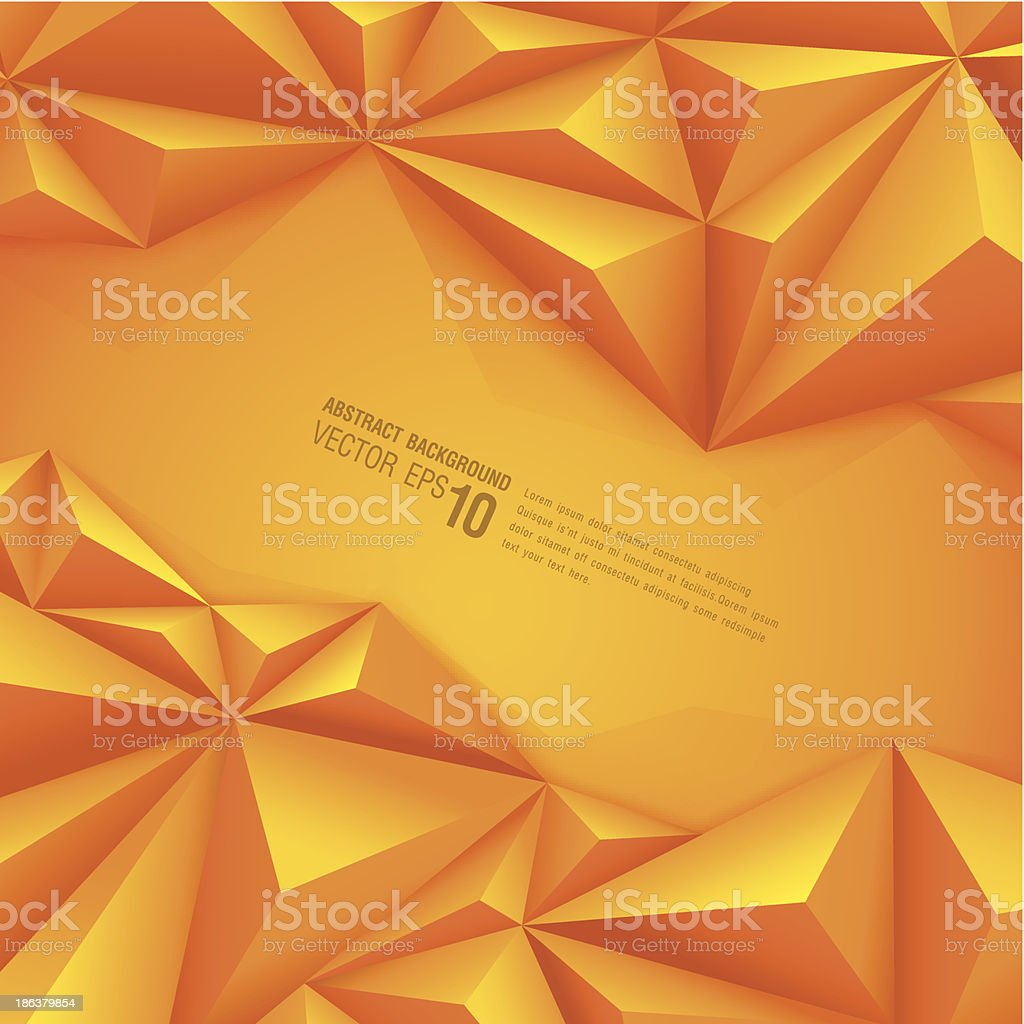 Abstract background with orange polygonal design royalty-free abstract background with orange polygonal design stock vector art & more images of abstract