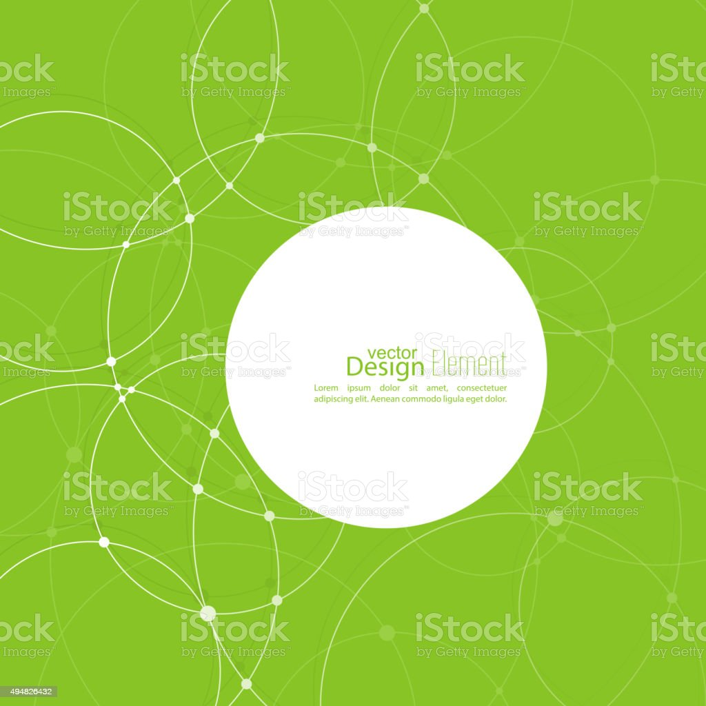 Abstract background with overlapping circles vector art illustration