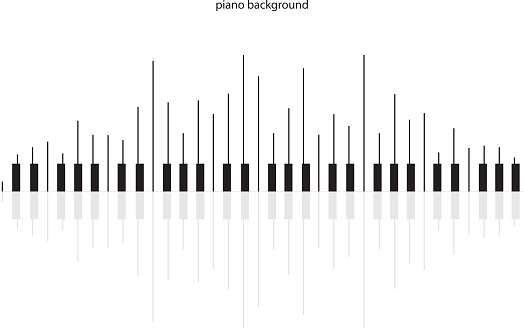Abstract background with piano keys.